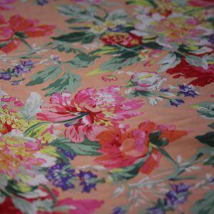 Ткань штапель лилия цвет персиковый
