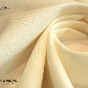 Ткань лён айвори