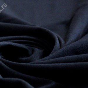 Ткань кулирка лайкра пенье цвет тёмно-синий