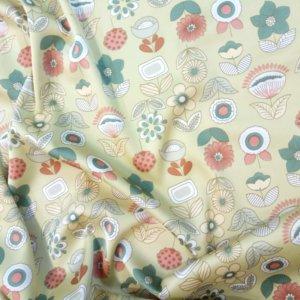 Ткань армани шелк «цветы сказка» цвет бежевый