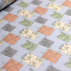 Ткань армани шелк «панно веточка» цвет индиго