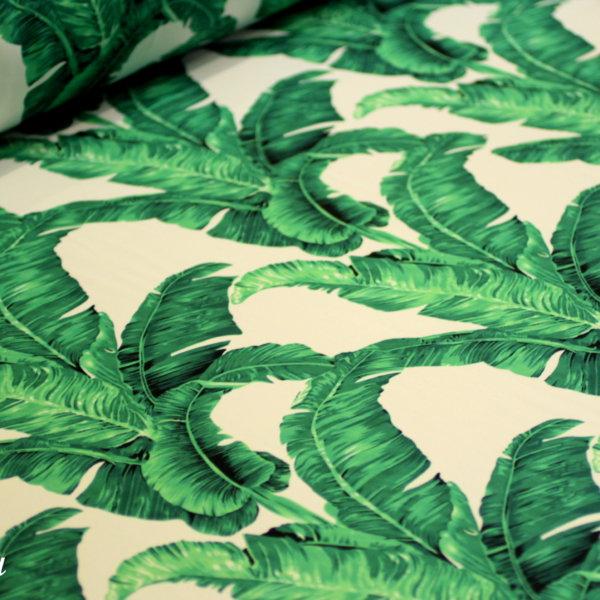 Ткань барби принт листья банана