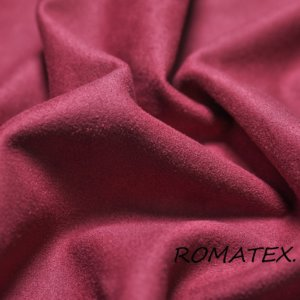 Ткань курточная замша на трикотаже цвет бордовый