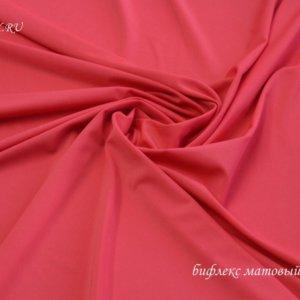 Ткань бифлекс матовый красный