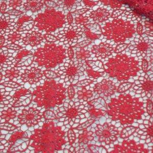 Ткань кружево цвет бордовый