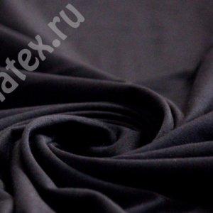 Ткань кулирка лайкра пенье цвет чёрный