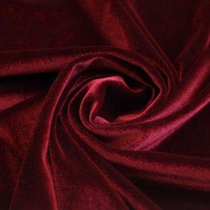 Ткань бархат стрейч цвет бордо