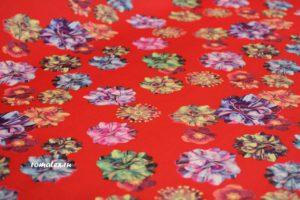 Ткань неопрен принт d5 цвет красный