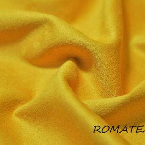 Ткань для одежды искусственная замша на трикотаже цвет жёлтый