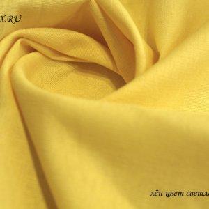 Ткань лён жёлтый
