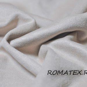 Ткань для одежды искусственная замша на трикотаже цвет бежевый