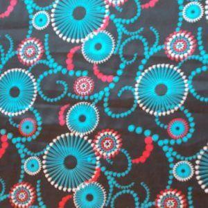 Швейная ткань атлас стрейч вензель цветы