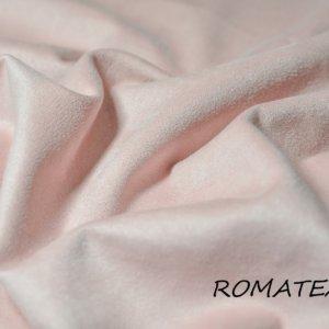 Ткань замша на трикотаже цвет персиковый