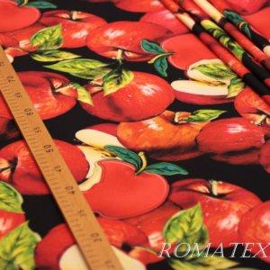 Ткань барби принт яблоки