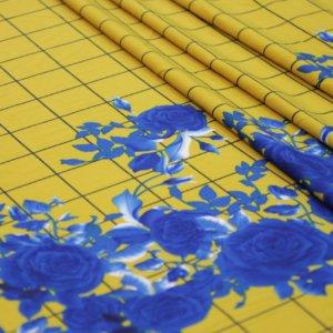 Ткань барби принт купон роза цвет желтый