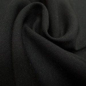 Ткань габардин стрейч цвет чёрный