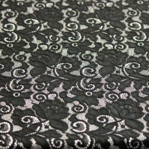 Ткань гипюр нейлон кружево цвет черный