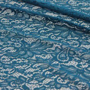 Ткань гипюр нейлон с фистонами цвет синий
