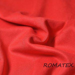 Ткань замша на трикотаже цвет красный