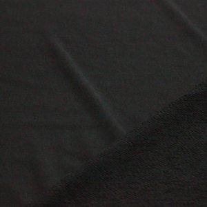 Ткань футер 3-х нитка петля качество компак пенье цвет чёрный