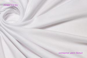 Ткань интерлок цвет белый пряжа 40/1 качество пенье