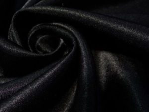 Ткань креп сатин цвет чёрный