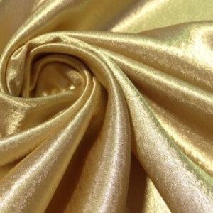 Ткань плательный креп сатин цвет золотой