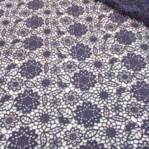 Ткань кружево цвет тёмно-синий