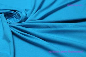 Ткань кулирка лайкра пенье цвет бирюзовый