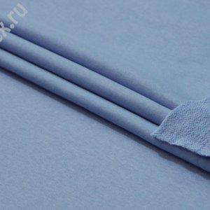 Ткань футер 3-х нитка петля цвет голубой