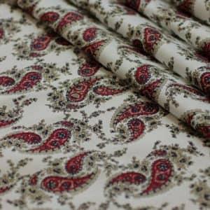 Ткань поплин букет d149 цвет айвори