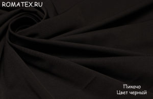 Ткань пикачу цвет чёрный