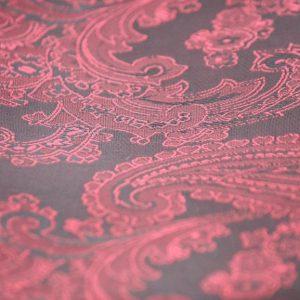Ткань подкладочная огурцы цвет бордовый