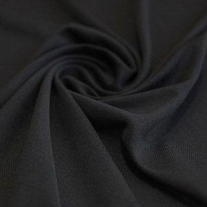 Ткань подкладка стрейч цвет чёрный
