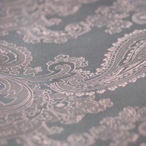 Ткань подкладка узор огурцы цвет шоколадный