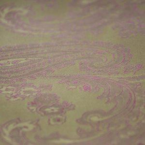 Ткань подкладочная огурцы цвет горчичный