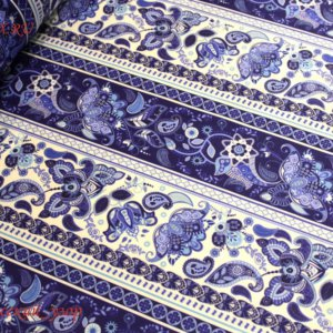 Швейная ткань сатин русский узор