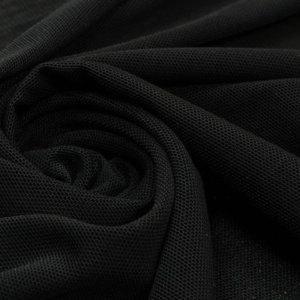 Ткань сетка трикотажная цвет чёрный