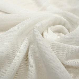 Ткань сетка трикотажная цвет нежно-молочный