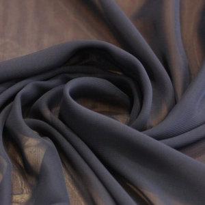 Ткань шифон однотонный цвет чернильный
