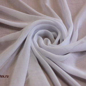 Ткань шифон однотонный цвет белый