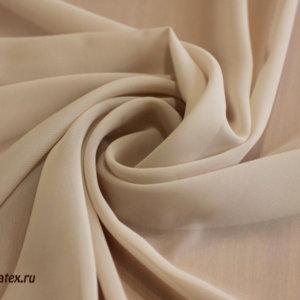 Ткань шифон однотонный цвет бежевый