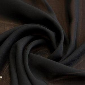 Шифон однотонный цвет чёрный