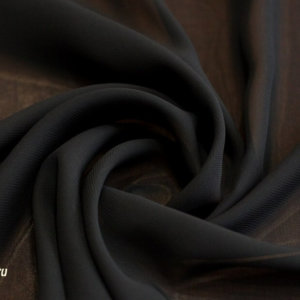 Ткань шифон однотонный цвет чёрный