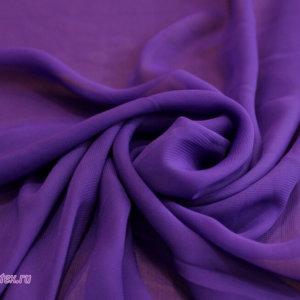 Ткань шифон однотонный цвет фиолетовый
