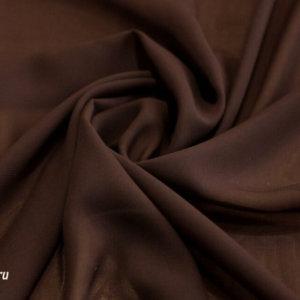 Ткань для платков шифон однотонный цвет коричневый