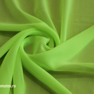 Ткань пляжная шифон однотонный цвет лайм