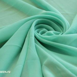 Ткань для платков шифон однотонный цвет мятный
