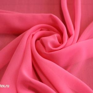 Ткань шифон однотонный цвет розовый