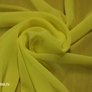 Шифон однотонный цвет светло-жёлтый